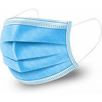 CARELIKA disposable face mask, protection class: Medical non-sterile, white/blue