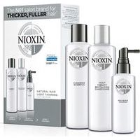 Nioxin SYS 1 Trialkit  - System 1 amplifies hair texture while protecting against breakage (300+300+100)